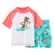 Carter's® Surfing Dog Rashguard Set - Boys 2t-4t