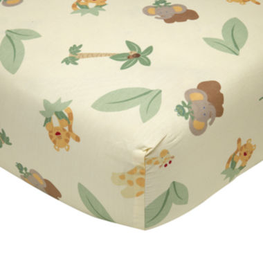 jcpenney.com | NoJo® Jungle Babies Crib Sheet