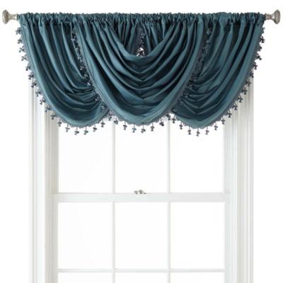 Liz Claiborne® Gallery Taffeta Rod-Pocket Waterfall Valance