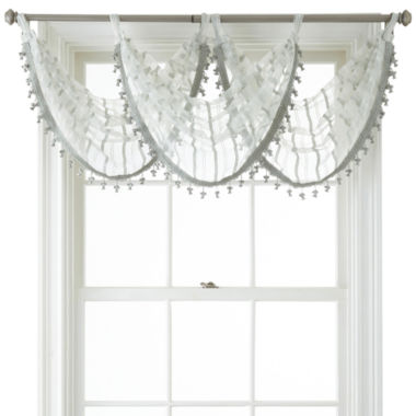 jcpenney.com | Liz Claiborne® Lauren Tab-Top Sheer Waterfall Valance