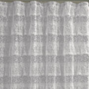 Priscilla Ruffled Lace Shower Curtain