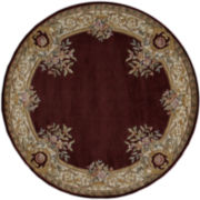 Momeni® Open Field Hand-Carved Wool Round Rugs