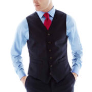 Stafford® Executive Navy Super 100 Wool Vest - Classic