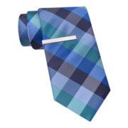 Van Heusen® Bold Buffalo Tie and Tie Bar Set - Slim