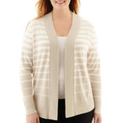 Worthington® Essential Open-Front Cardigan Sweater - Plus