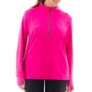 Xersion™ Half-Zip Reflective Pullover - Plus