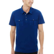 JF J. Ferrar® 2-Pocket Polo Shirt
