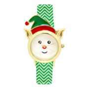 Womens Christmas Elf Strap Watch