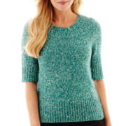 Worthington® Elbow-Sleeve Boatneck Sweater