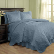 Waverly® Dressed Up 4-pc. Damask Quilt Set