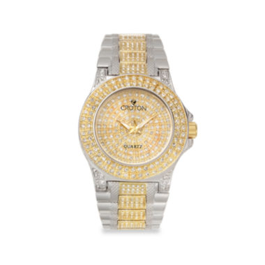 jcpenney.com | Croton Womens Crystal-Accent Two-Tone Stainless Steel Bracelet Watch