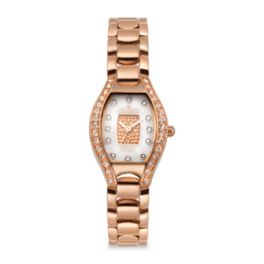 jcpenney.com | Croton Womens Diamond-Accent Rose Gold-Tone Stainless Steel Watch