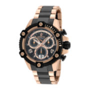 Invicta® Mens Black Dial Chronography Bracelet Watch 13718