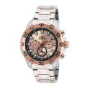Invicta® Pro Diver Mens Rose Gold Plated and Stainless Steel Watch 20013