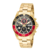 Invicta® Mens Gold Green Pro Diver Bracelet Watch