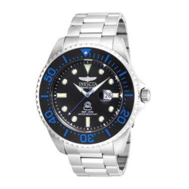 jcpenney.com | Invicta® Pro Diver Mens Silver and Black Bracelet Watch 17571