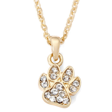 jcpenney.com | Pet Friends Crystal-Accent Paw Print Pendant Necklace