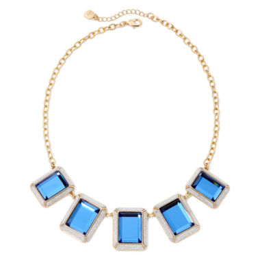 jcpenney.com | Monet® Frontal Blue Gold-Tone Necklace