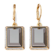 Monet® Drop Grey Gold-Tone Earrings