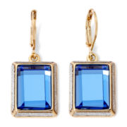 Monet® Drop Blue Gold-Tone Earrings