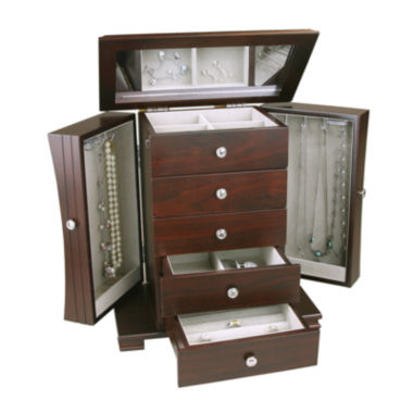jcpenney.com | Espresso Contemporary 4-Drawer Jewelry Box