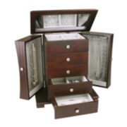 Espresso Contemporary 4-Drawer Jewelry Box