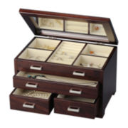 Brown Tea 3-Drawer Jewelry Box