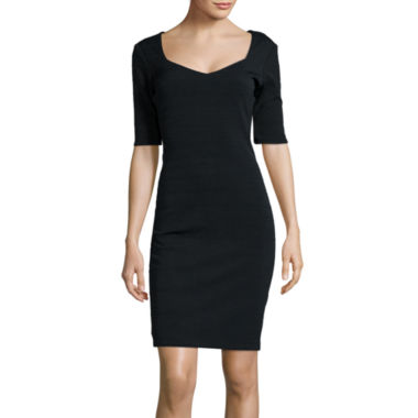 jcpenney.com | Bisou Bisou® Elbow-Sleeve Sweetheart Neck Bodycon Dress