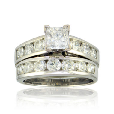jcpenney.com |  3 CT. T.W. Diamond 14K White Gold Bridal Ring Set