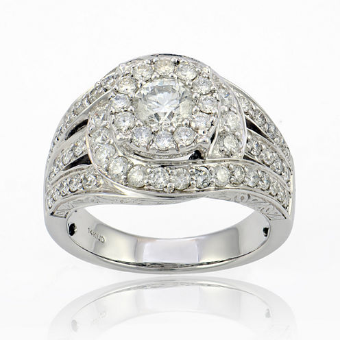LIMITED QUANTITIES 2 CT. T.W. Diamond 14K White Gold Ring