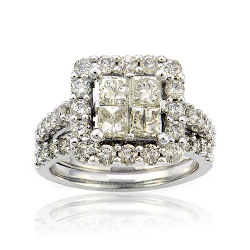 LIMITED QUANTITIES 3 CT. T.W. Diamond 10K White Gold Ring