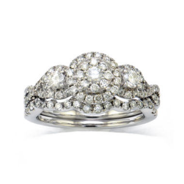 jcpenney.com | LIMITED QUANTITIES  1 CT. T.W. Diamond 10K White Gold Bridal Ring Set