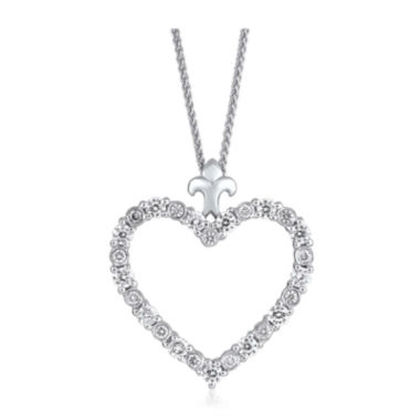 jcpenney.com | LIMITED QUANTITIES 1/2 CT. T.W. Diamond 14K White Gold Heart Pendant Necklace