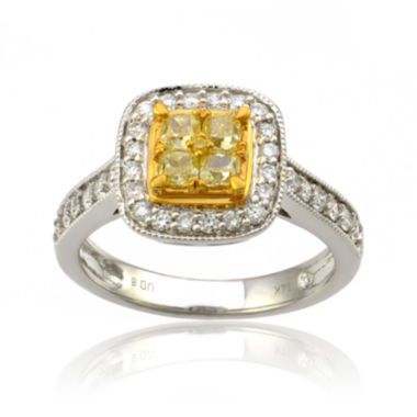 jcpenney.com | LIMITED QUANTITIES1 CT. T.W. Color-Enhanced Yellow and White Diamond 14K Two-Tone Gold Ring