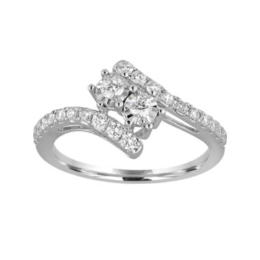 jcpenney.com | Two Forever™ 1 CT. T.W. Diamond Two-Stone 10K White Gold Ring