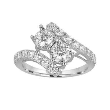 jcpenney.com | Two Forever™ 1½  CT. T.W. Diamond Two-Stone 14K White Gold Ring