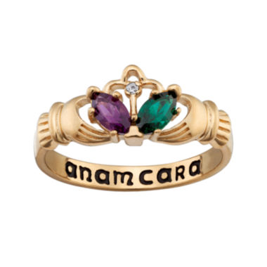 jcpenney.com | Personalized Claddagh Birthstone Engraved Ring
