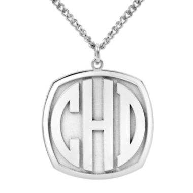 jcpenney.com | Personalized 27mm Block Monogram Pendant Necklace