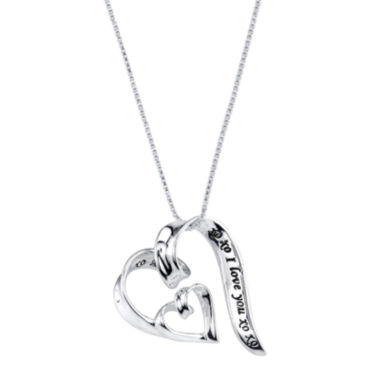 jcpenney.com | Inspired Moments™ Sterling Silver I Love You Heart Pendant Necklace