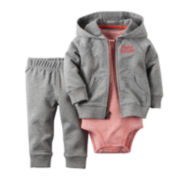 Carter's® 3-pc. Long-Sleeve Hoodie Set - Baby Boys newborn-24m