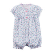 Carter's® Short-Sleeve Floral Creeper - Baby Girls newborn-24m