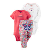 Carter's® 3-pc. Bodysuit and Pants Set - Baby Girls newborn-24m