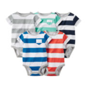 Carter's® 5-pk. Short-Sleeve Striped Bodysuits - Baby Boys newborn-24m