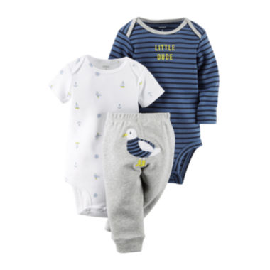 jcpenney.com | Carter's® 3-pc. Long-Sleeve Bodysuit and Pants Set - Baby Boys newborn-24m
