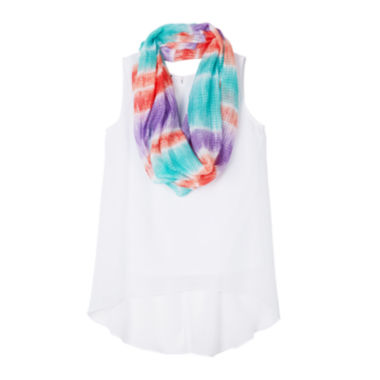 jcpenney.com | by&by Girl High-Low Tank Top with Scarf - Girls 7-16