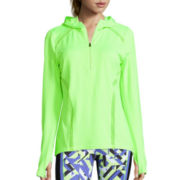 Xersion™ Long-Sleeve Sheer Inset Hooded Half-Zip Pullover - Tall