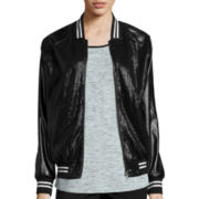 i jeans by Buffalo Long-Sleeve Sequin Faux-Leather Jacket