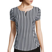 Alyx® Short-Sleeve Striped Suiting Top