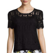 Decree® Short-Sleeve Lace T-Shirt