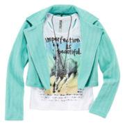 Knit Works® Moto Jacket, Tank Top & Necklace Set